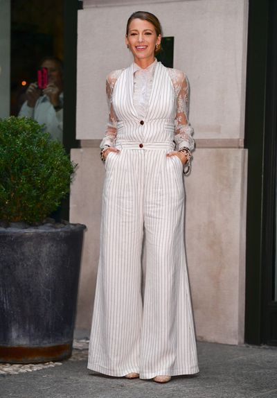 Blake Lively wearing Zimmerman Resort 2019 in New York, August, 2018