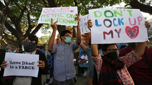 The so-called 'Love Jihad' laws have sparked protests in India.