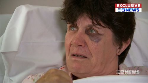 Karen Bland and her family were attacked as they left the city following NYE celebrations.