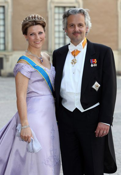 Princess Märtha Louise and her late-husband Ari Behn at the wedding of Princess Madeleine of Sweden.