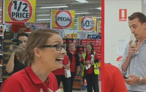 Man proposes to his girlfriend in the aisles of a Brisbane Coles