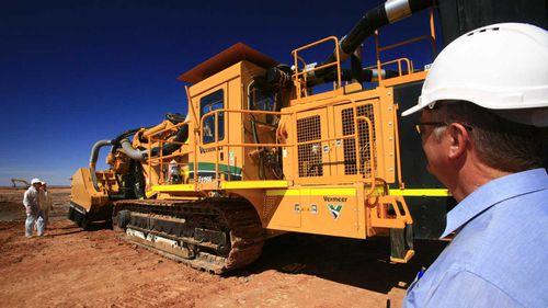 Mining equipment in Wiluna Shire, WA. (AAP)