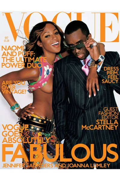 <em>With P.Diddy on the cover of US Vogue</em> October 2001<br>