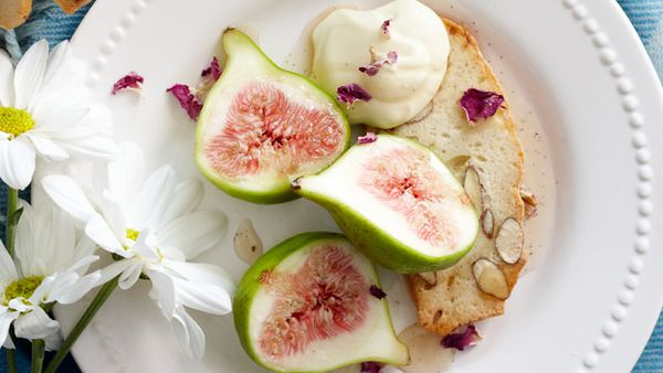 Rose-infused figs
