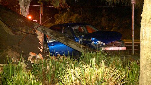The car was found unoccupied on the Pacific Highway at Greenwich after the collision.
