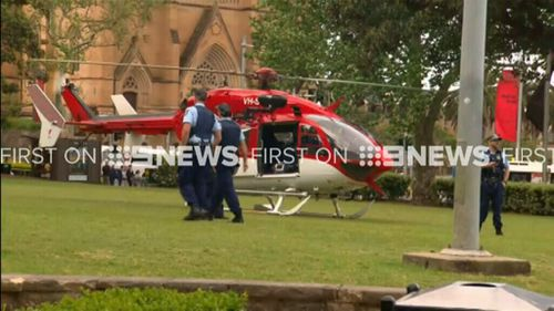 One man was airlifted to St Vincent's Hospital. (9NEWS)