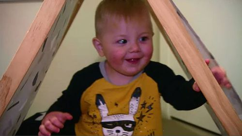 Declan made a full recovery and an internal investigation is now underway to make sure the error doesn't happen again at Nepean Hospital. Picture: 9NEWS.