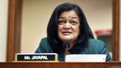 Rep. Pramila Jayapal has blamed her maskless Republican colleagues for giving her coronavirus.
