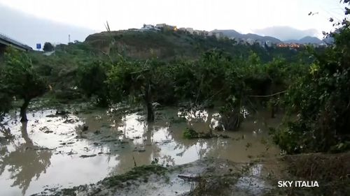 There was only one survivor at a rented villa in Casteldaccia where two families were wiped out when flood waters swept through.