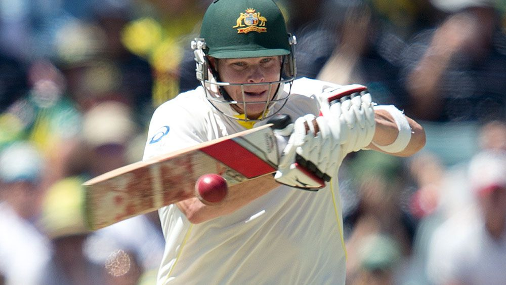 Steve Smith during his career-altering innings in Perth in 2013. (AAP)