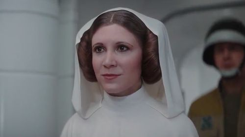 Computer-generated imagery was used to create a digital double of actress Carrie Fisher. (Disney)