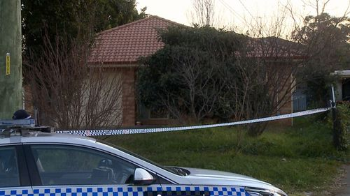 The accused's family home in Marayong, in western Sydney.