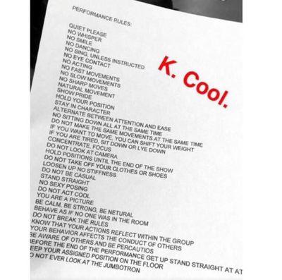Kanye West's list of model demands was longer than his set list.