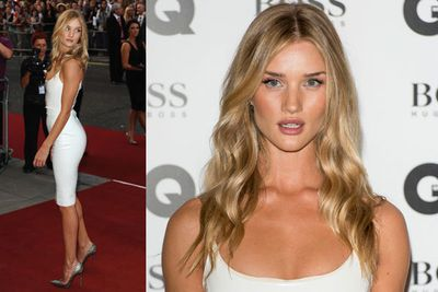 Victoria's Secret model Rosie Huntington-Whiteley working her trademark pout.