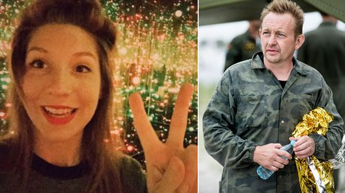 Missing journalist Kim Wall and submarine owner Peter Madsen.
