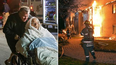 'Disoriented, crying' seniors flee living centre fire
