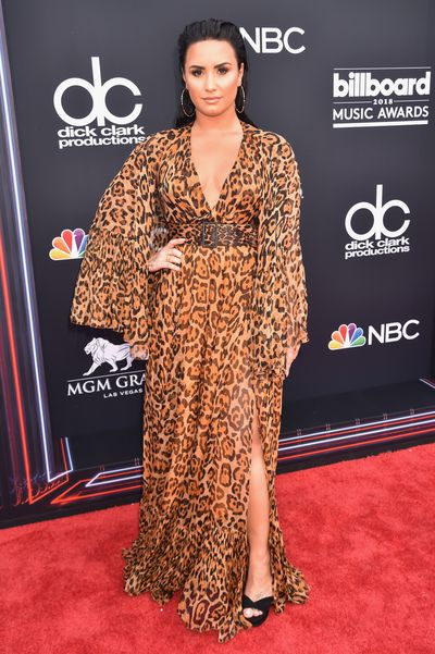 Singer Demi Lovato in Dior Resort