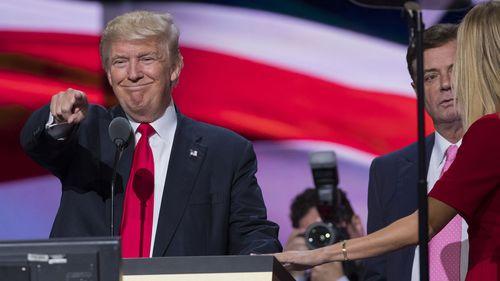 Donald Trump and Paul Manafort. (AAP)