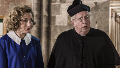Mark Williams plays Father Brown in the series.