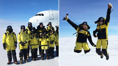 'Once in a lifetime': School kids treated to special Antarctica day trip