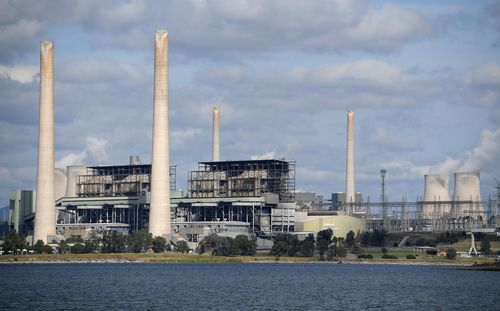 The nearby Liddell coal-fired power station is set to close in 2022, with the planned hydro-electric plant to supplement AGL's lose of income from the closure. Picture: AAP