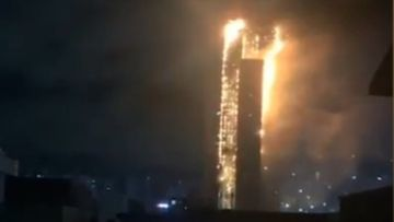 Huge blaze at 33-storey tower block in South Korea