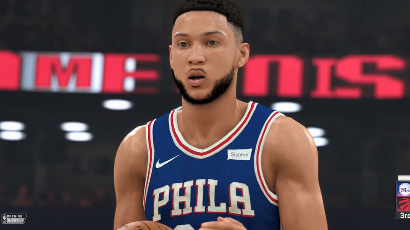 Philadelphia 76ers' Ben Simmons in NBA 2K20