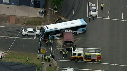 Seven people were injured in the crash. (9NEWS)