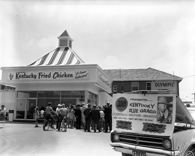 Archival footage of a KFC store opening