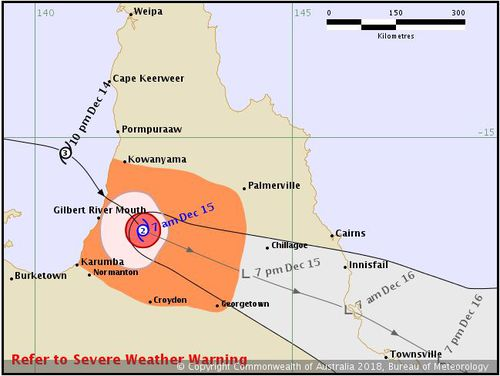 Cyclone Owen Queensland landfall