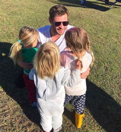 Chris Hemsworth and kids India, Sasha and Tristan