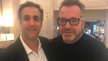 Michael Cohen and Tom Arnold. (Twitter)