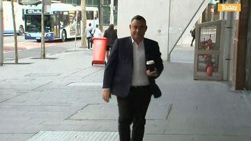 John Barilaro arrives at NSW parliament today.
