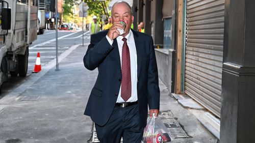 Daryl Maguire enters ICAC ahead of another day of questioning.