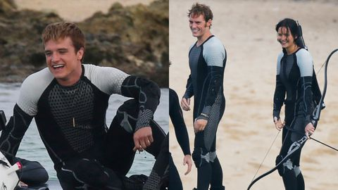 On location pics of <i>The Hunger Games: Catching Fire</i> cast in Hawaii. Images: Splash