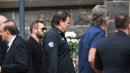 CMFEU's John Setka at the funeral today.