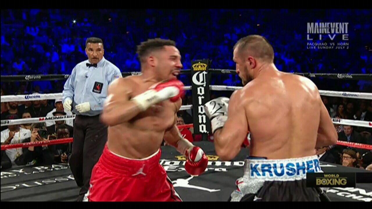 Ward scores controversial TKO win