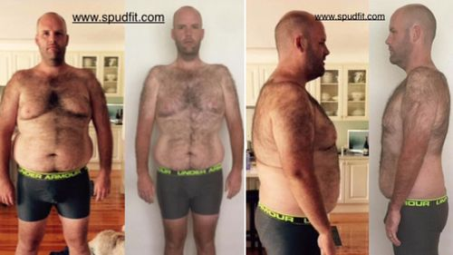 The results of Andrew Taylor's program so far. (Spud Fit/Facebook)
