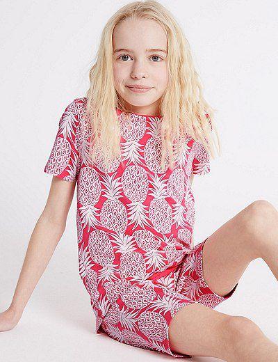 "<a href=""http://www.marksandspencerlondon.com/au/pineapple-print-short-pyjamas-1-16-years/p/P60092965.html?dwvar_P60092965_color=A4"" target=""_blank"" draggable=""false"">Marks &amp; Spencer London Pineapple Print Pyjamas, from $16.</a>"