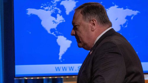 Secretary of State Mike Pompeo is accused of making a State Department staffer walk his dog.