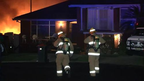 Two crews of firefighters were needed to get the inferno under control.
