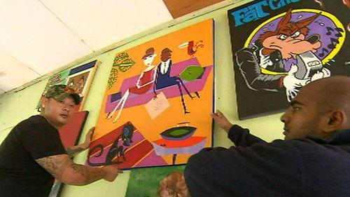 Sukumaran has been teaching painting classes within Kerobokan prison. (9NEWS)