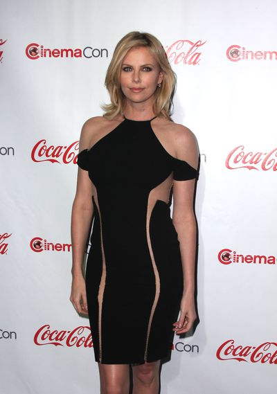Charlize Theron in Dion Lee at the CinemaCon 2012 Awards. Image: Getty