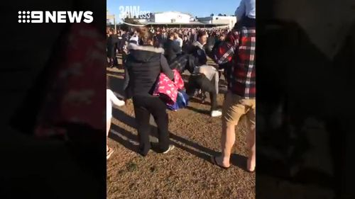 The fight erupted at an under-15s Grand Final. (3AW/9NEWS)