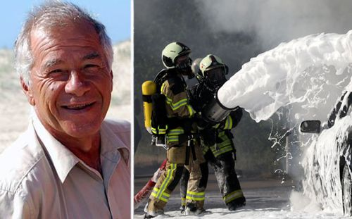 Former NSW firefighter Geoff Zipper believes his cancer is linked with exposure to toxic foam. (Photos: Supplied/AAP)