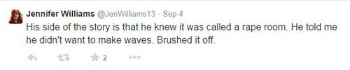 One of the tweets Ms Williams tweeted after the incident. (Picture: Twitter)