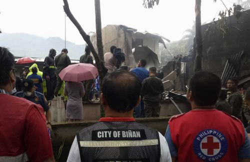 Investigators are trying to determine why the medical airlift ended in tragedy.  (Philippine Red Cross via AP)