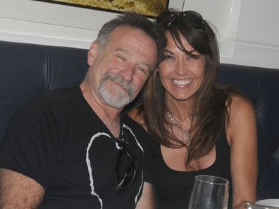 Robin William, Susan Schneider, Nello restaurant, New York, 2010
