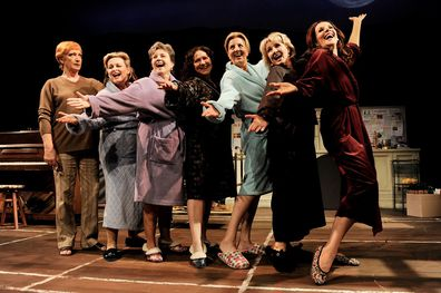 Performing in 'Calendar Girls' in 2010.