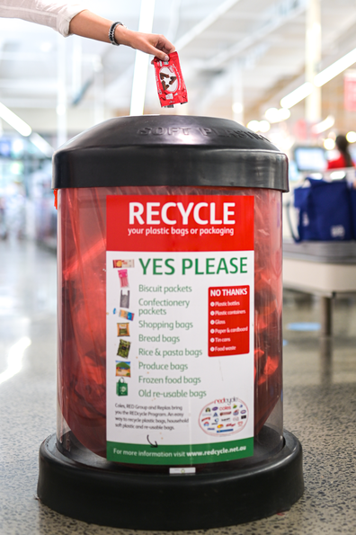 REDcycle bin in supermarket